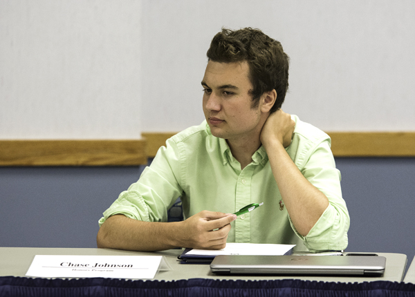 Chase Johnson formerly represented the Honors Program as a senator on UND Student Government. Dakota Student File Photo